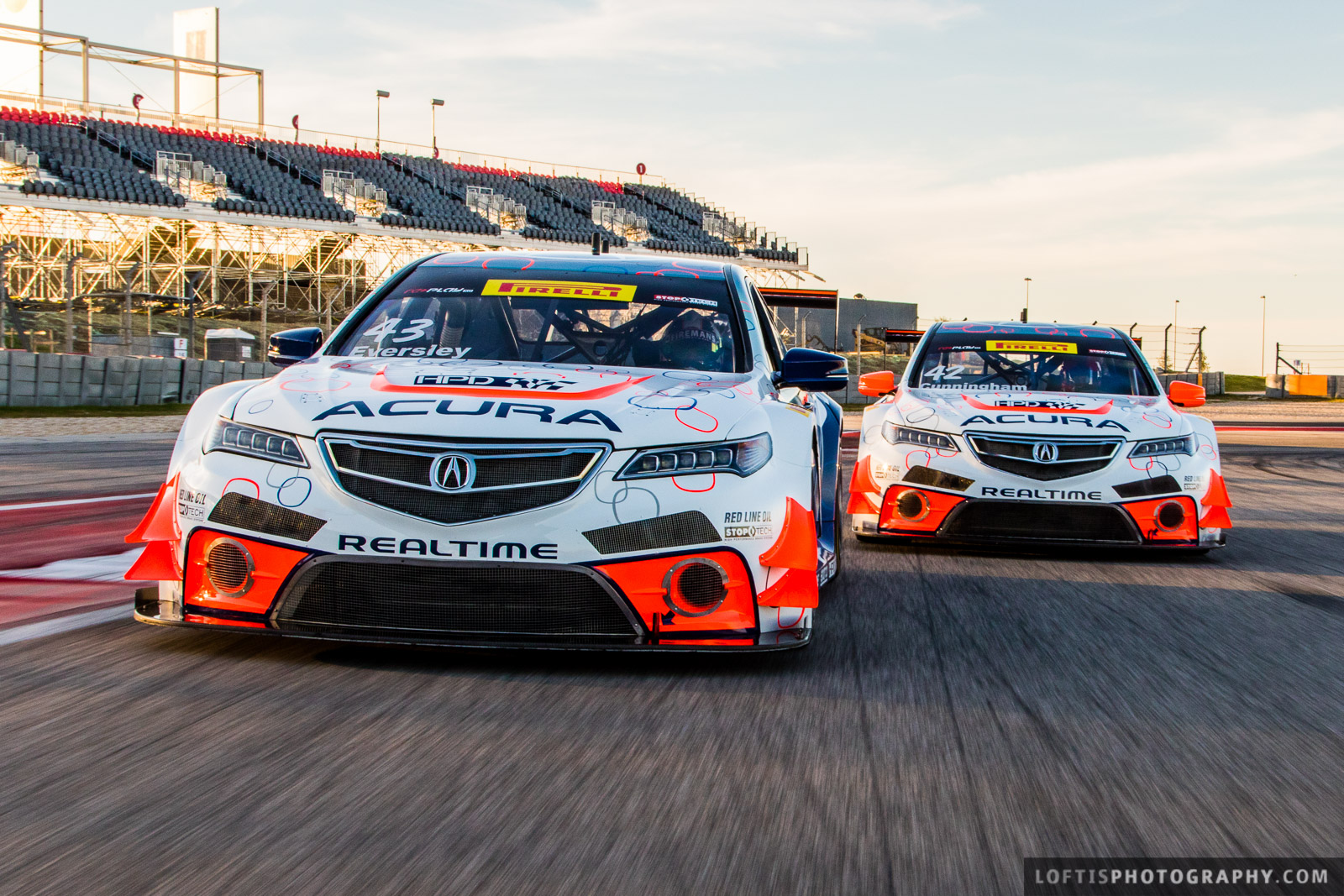 RealTime Racing Acura TLX Testing at Circuit of the Americas